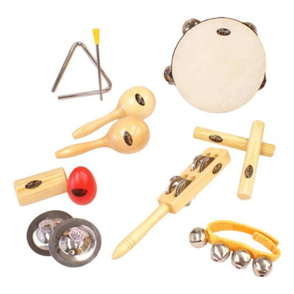 conjunto instrumento percussão