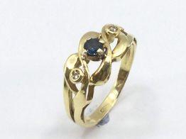 anillo oro 18k con piedra diamante