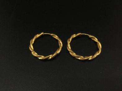 argolas ouro 19k (ouro 19k)