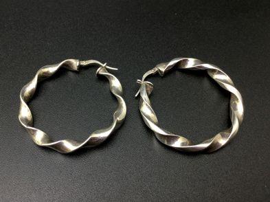 argollas plata primera ley (plata 925mm con piedra)