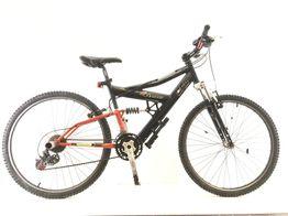 bicicleta de estrada alpinestar preta e vermelha