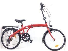bicicleta plegable denver bike roja