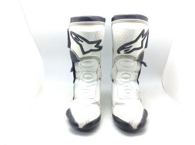 botas motorista alpinestars s-mx plus white