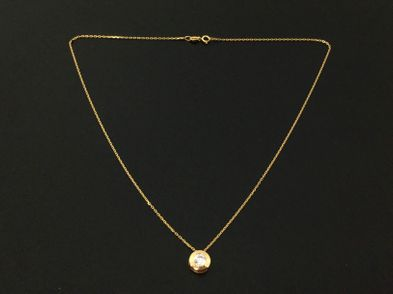 cadena oro primera ley (oro 18k con piedra)