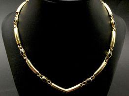 cadena oro 18k con circonita 25.5cm
