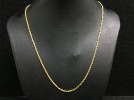 cadena oro 18k 25cm