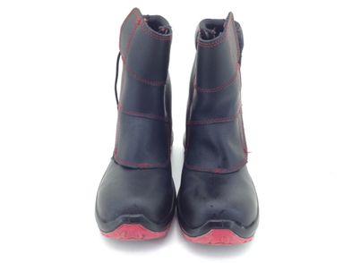 calzado seguridad robusta negra roja