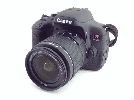 camara digital reflex canon eos 750d+ef-s 18-55mm 1:3.5-5.6 is stm