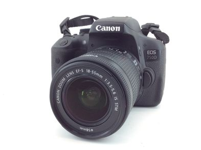 camara digital reflex canon eos 750d+ef-s 18-55mm 1:3.5-5.6 is stm