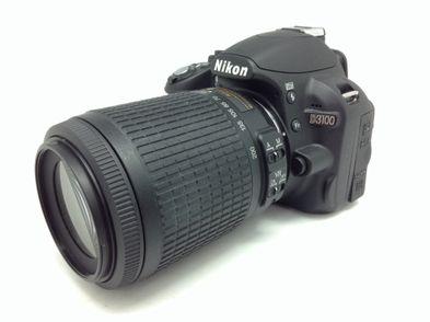 camara digital reflex nikon d3100 + nikon 55-200 1:4-5.6g ed dx vr