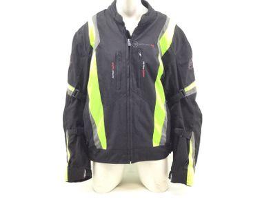 casaco motociclista outro preto e amarelo