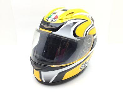 casco integral agv airtech amarillo