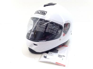 casco integral agv mds withe