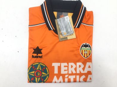 coleccionismo deportivo otros camiseta valencia cf segunda equipacion 1998/1999