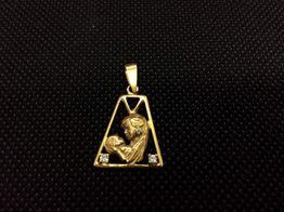 colgante oro primera ley (oro 18k con piedra)