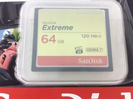 compact flash sandisk 64 gb extreme 120m