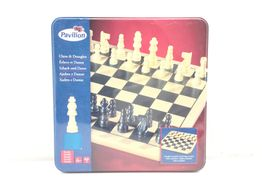 conjunto tabuleiro peças pavilion xadrez e damas