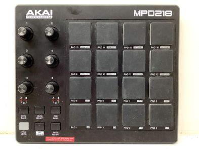 controlador akai mpd218