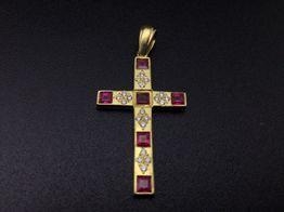 crucifijo oro 18k con piedra