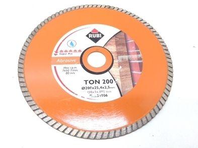 disco abrasivo rubi ton 200