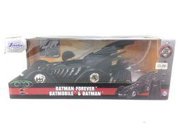 figura accion otros batmobile de batman forever 22 cm escala 1/24 con figura de batman