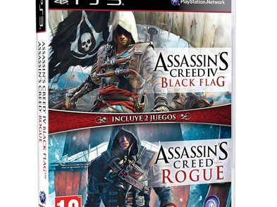 compil assassins creed iv black flag + assassins creed rogue ps3