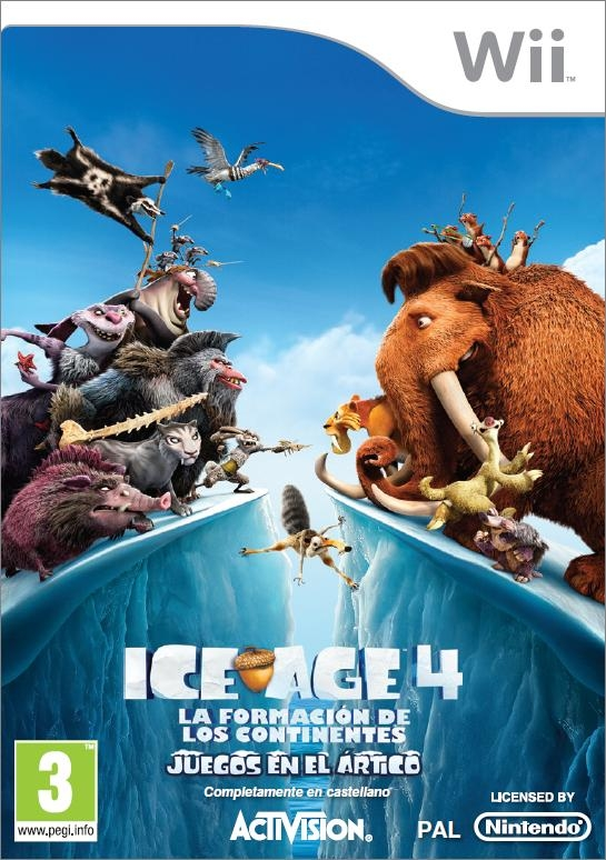 ICE AGE 4 CONTINENTAL DRIFT ARTIC GAMES WII