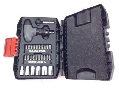 kit herramientas variadas black and decker gris