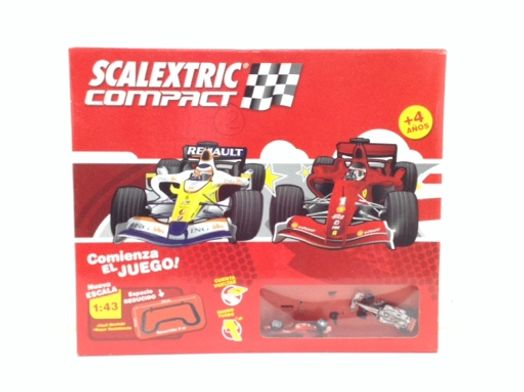 kit pista y coches slot scalextric compact f1