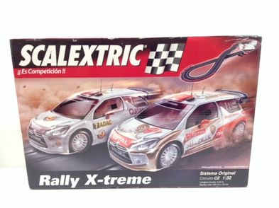 kit pista y coches slot scalextric scalextric original circuito c2 rally x-treme