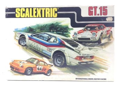 kit pista y coches slot scalextric gt.15