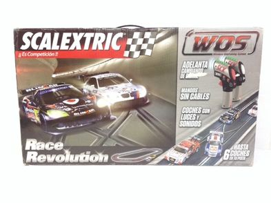 kit pista y coches slot scalextric race reovution