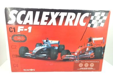 kit pista y coches slot scalextric c1 f1