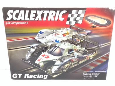 kit pista y coches slot scalextric gt racind