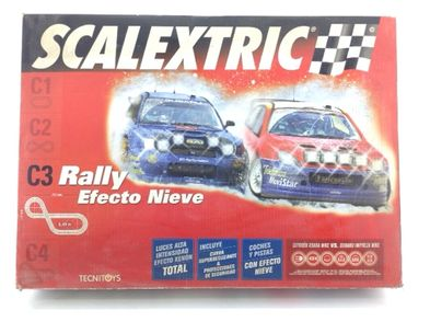 kit pista y coches slot scalextric c3 rally efecto nieve