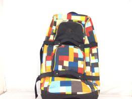 maleta viaje otros bolso en cruadros de colores (ruedas y flexible)