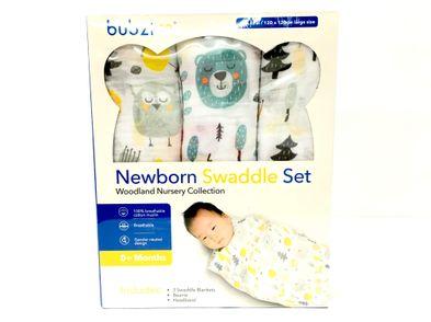 maternidad y premama otros pack de 3 mantitas bebes 120 x 120 con gorrito y cinta de pelo extra