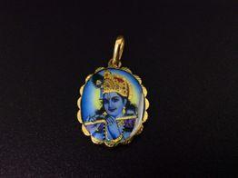 medalla oro primera ley (oro 18k con piedra)