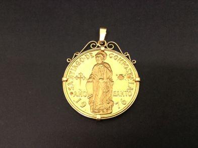 medallon oro primera ley (oro 18k)