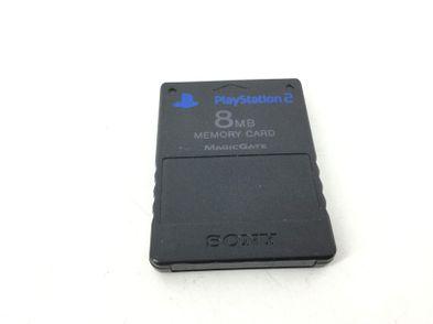 memory card ps2 sony negra