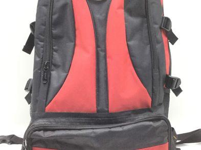 mochila motorista otros rojo y negro