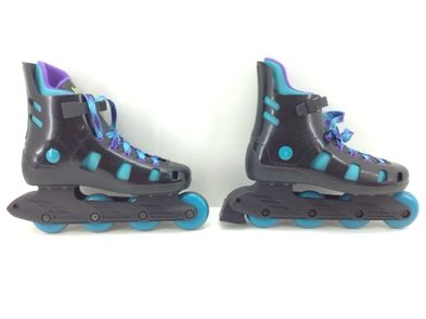 patines otros negro  verde