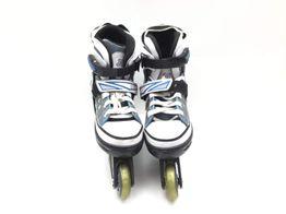 patines s/m azul blanco