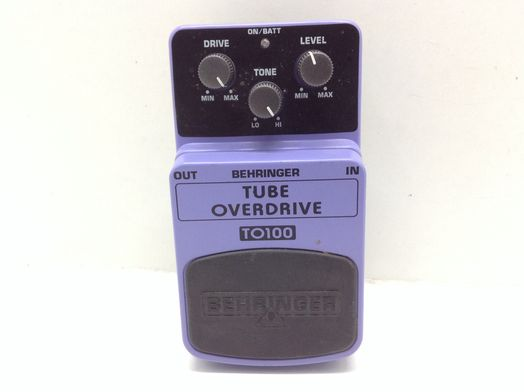 pedal efectos behringer tube averdrive to100