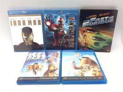 lote de 5 dvd