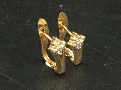 pendientes oro primera ley (oro 18k con piedra)