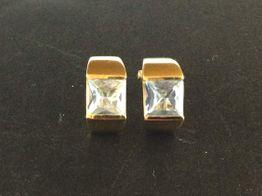 pendientes oro 18k con circonita