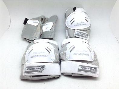 protecciones patinaje powerslide blanco