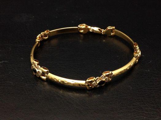 pulsera oro primera ley (oro 18k con piedra)