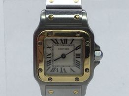 reloj alta gama señora cartier santos stell & gold lady 1567